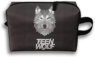 Teen Wolf Animal Bolsa de viaje grande para artículos de aseo neceser neceser neceser bolsa para lápices, bolsa de almacenamiento multifunción