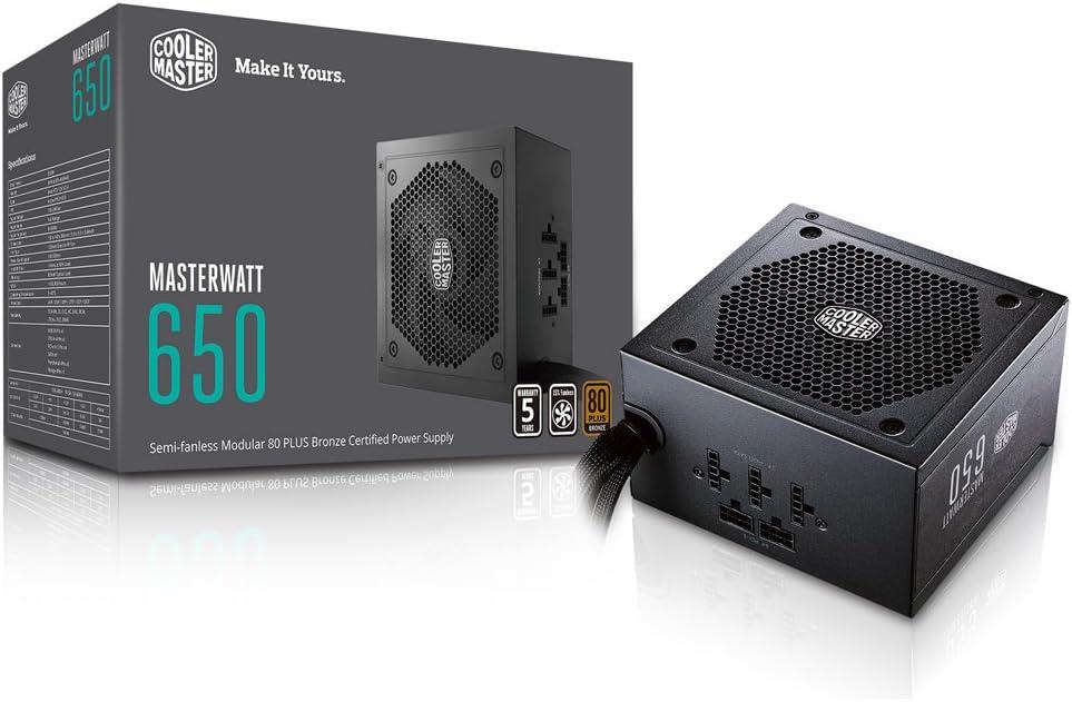 Cooler Master Watt 650 Watt Semifanless Modular Power Supply Review