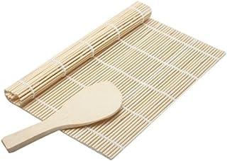 Esterilla de bambú para hacer sushi marca Westeng. Esterilla de bambú para sushi y cuchara de sushi