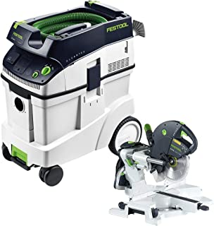 Festool KS 120 Dual Compound Sliding Miter Saw + CT 48 E Dust Extractor Package