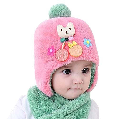 Bonnet hiver pour Bébé Chapeaux bebe Set de 2 pièces Ensemble Echarpe  Sunroyal Calotte Chapeau Bébé f3fd6709562