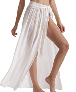 Best Beach Sarong Pareo Womens Semi-Sheer Swimwear Cover Ups Short Skirt with Tassels Review