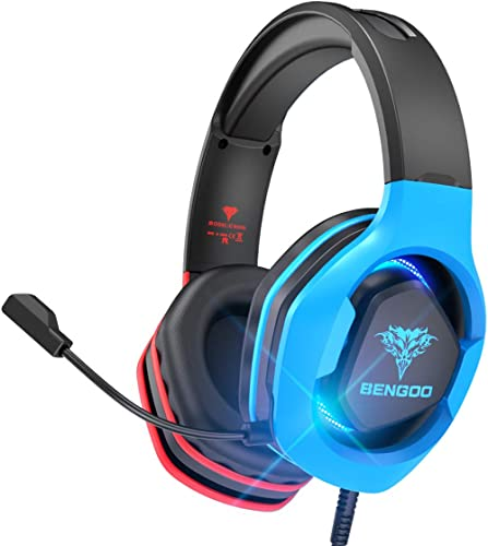 BENGOO G9500 Gaming Headset Headphones for PS4 Xbox One PC Controller, Over Ear Headphones with 720°Noise Cancelling ...