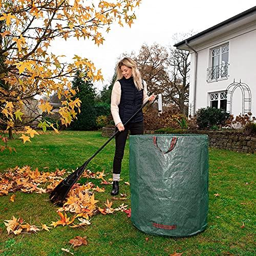 Set van 4 tuinzakken, 270 l bladzakken tuinafvalzakken afvalzak zelfstaand en opvouwbaar bladzakken