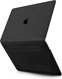 Kuzy - MacBook Pro 13 inch Case 2019 2018 2017 2016 Release A2159 A1989 A1706 A1708, Plastic Hard Shell Cover for New 13 inch MacBook Pro Case with Touch Bar Soft Touch - Black