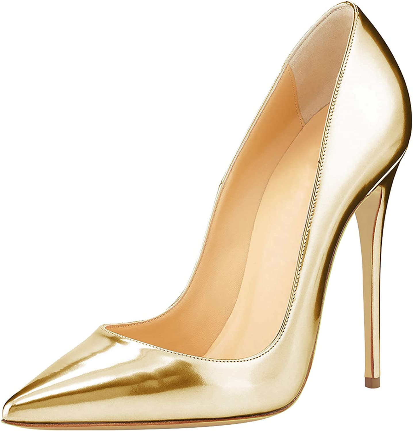 HEETIST Women's Sexy Pointed Closed Toe Stiletto High Heels Dress Pumps shoes Slip On Size 4-12 US