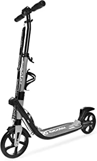 EXOOTER M2050 9XL Manual Adult Cruiser Kick Scooter with Dual Suspension Shocks and 200mm Wheels.
