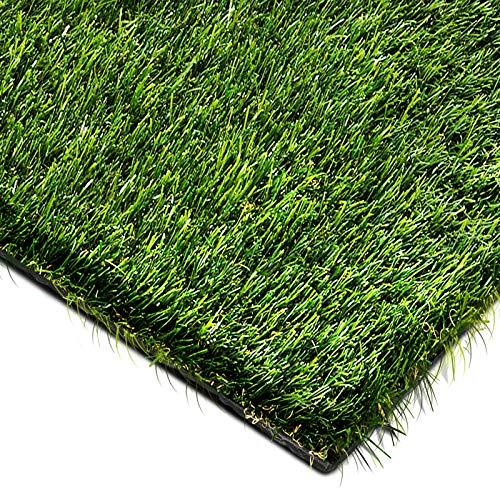 Gazon artificiel casa pura de luxe | herbe synthétique au mètre | pelouse, balcon, jardin, terrasse etc. | ultra résistant aux intempéries - 200x200cm