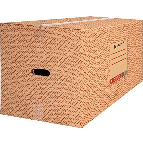 packer PRO Pack 10 Cajas Carton para Mudanzas y Almacenaje Ultra Resistentes con Asas 600x400x400mm