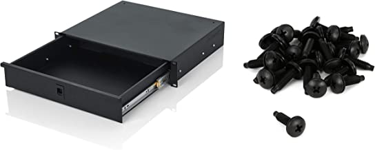 Gator GRW-DRW2 2U Standard Rack Drawer + Middle Atlantic Products HPS Rack Screws (25-pack) Value Bundle