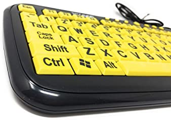 USB Wired Keyboard OULATUWB Large Letter Button Keyboard Keyboard for Seniors for Computer Laptop