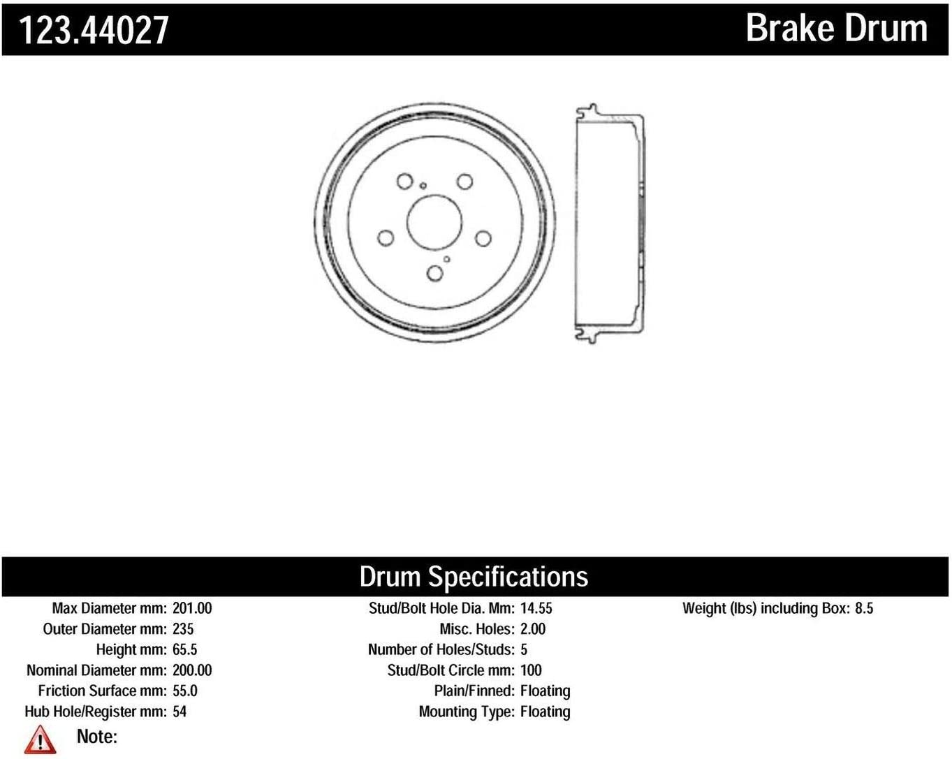 Max 54% OFF Centric Parts 123.44027 Choice Brake Drum