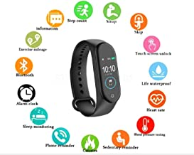 SHOPTOSHOP M4 Smart Wrist Band with Pedometer/Activity Tracker/Waterproof/Heart Beat Sensor/Sleep Monitor Compatible with Android and iOS Phones (Random Colour)