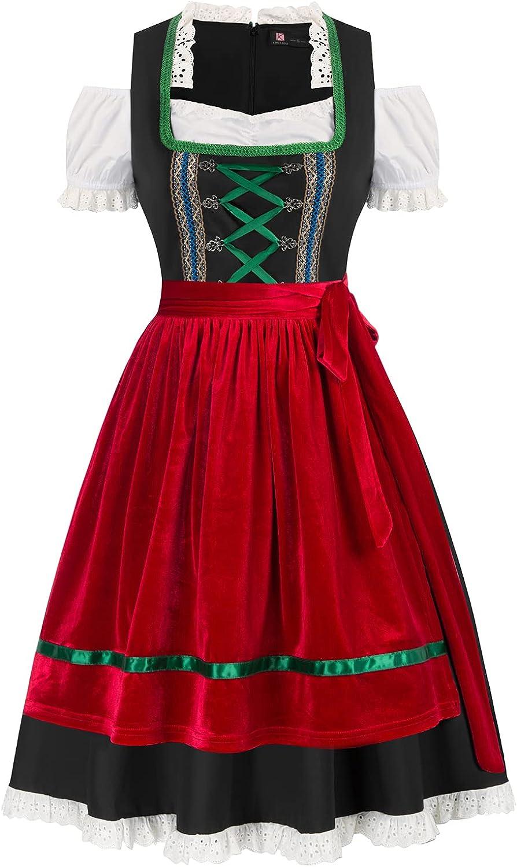 Women's Fraulein Oktoberfest Costume Max 89% OFF 3 Dirndl German Piece Dress Ranking TOP8