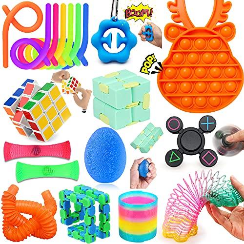 Yetech 17PCS Juguetes Sensoriales Kit,Juguete Antiestrés Sensorial de Explotar Burbujas,Set De Juguetes Sensoriales,Juguetes contra el estrés y la ansiedad para niños y Adultos, TDAH