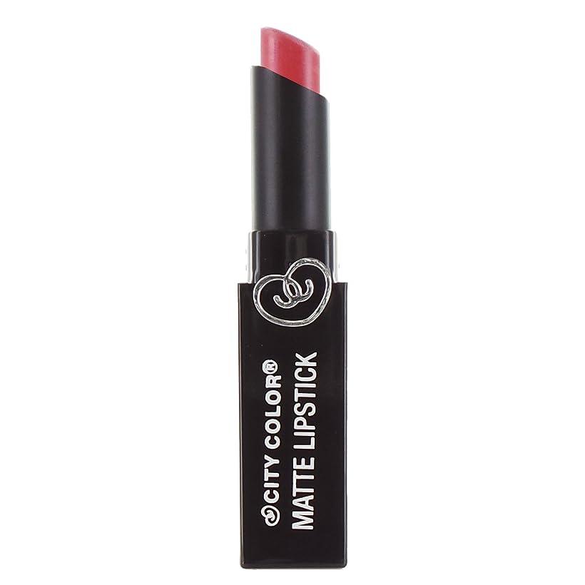 について許可四回(3 Pack) CITY COLOR Matte Lipstick L0050D - Melon (並行輸入品)