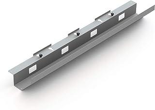 EISNHAUER ® Passe-câbles Easy V2 pliable contre les nœuds de câbles sur le bureau, design élégant, 110 cm, métal (argent)