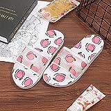 JFHZC Zapatillas para Famili,Zapatillas Casuales de Verano para niñas con Fondo Suave de Fresa, Zapatillas de Plataforma de baño Interior para el hogar para Mujer-Pink_36-37