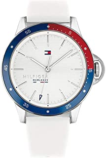 Tommy Hilfiger Women'S White Dial White Silicone Watch - 1782029