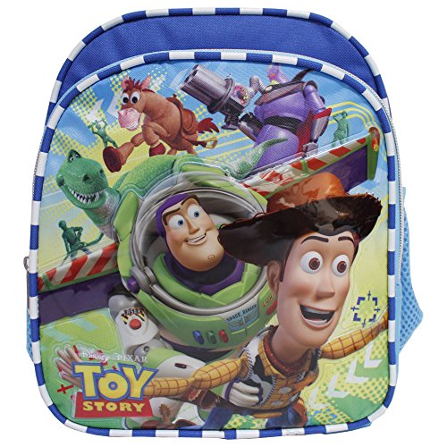 Disney Toy Story New Light Blue Toddler 10 inch Backpack- Buzz Lightyear & Woody