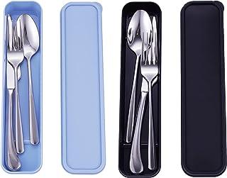 Sponsored Ad - Stainless Steel Dinner Mirror Polished Tableware Modern Elegant Design for Home,Hotel,Restaurant(Forks Spoo...