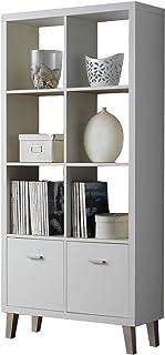 Kit Closet 60504 estantería Venecia 2x4 Madera atamborada Blanco 168 x 80 x 29