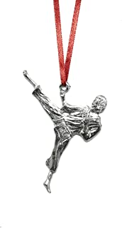1069 Karate Martial Arts Student Team Coach Athlete Ornament Pewter