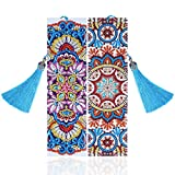 VETPW 2 Piezas 5D Marcadores de Pintura Diamante Bricolaje, Marcador de Cuero con Borlas Kit de Pintura de Diamantes de Bordado, Pintura por Números para Cumpleaños y Graduación -Mandala