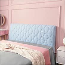 Bed Headboard Cover,Full Soft with Stretch Side and Pocket Dustproof Cotton Furniture Sofa for Bedroom Decor (Color : Blu...