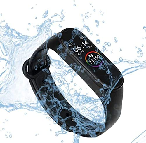 M4 Plus Bluetooth Wireless Smart Fitness Band For Boys Men Kids Women Sports Watch Compatible With Mobile Phone Heart Rate Sensor Calories Counter