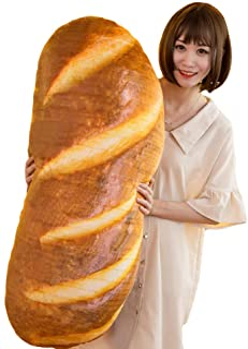 "elfishgo 3D Simulation Bread Shape Pillow,Soft Butter Bread Food Plush Cushion Stuffed Toy for Home Decor 31.5"""