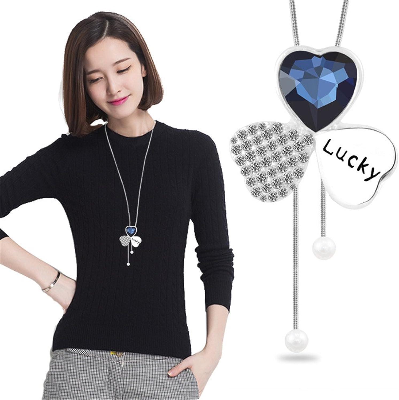 Frau lange Blaume Halskette alle-match Mode pullover Kette Anhänger Zubehör und Kleidung B07747Y5S3 Smart  | Moderner Modus