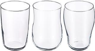 アデリア ビールグラス クリア クラフトビアグラス 3客(爽快 芳醇 重厚)ギフトセット 化粧箱入 グッドデザイン賞受賞品 食器洗浄機対応 日本製 S6080