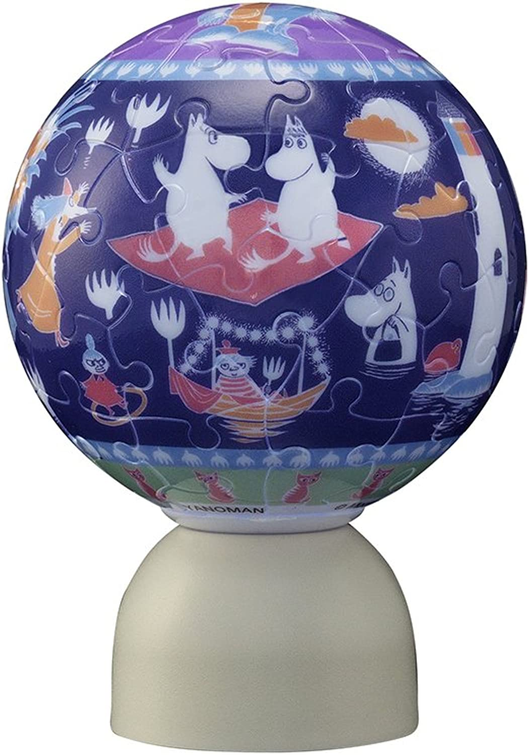 60 piece glowing sphere puzzle Pazurantan Moomin full moon night