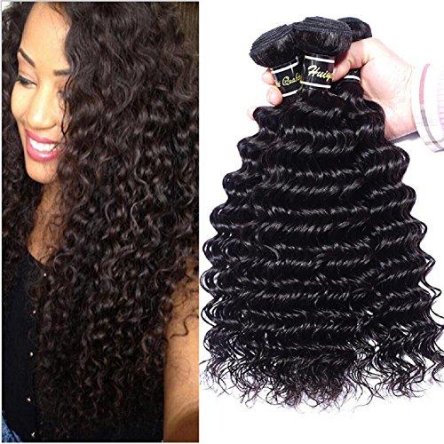 Meylee Postiches 100 % profonde vague humaine cheveux tissage trame 3 faisceaux/pack 300 grammes totalement , 14 16 18