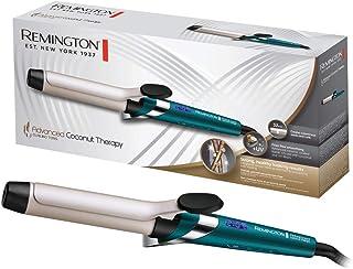 Remington Advanced Coconut Therapy - Rizador de pelo, Barril de 32 mm con pinza, Cerámica, Digital, Hasta 210 °C, Azul, CI...