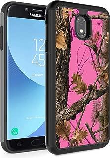 Galaxy J3 2018/J3 Express Prime 3/J3 Star/J3 Achieve Case,Rossy Hybrid TPU Plastic Dual Layer Armor Defender Protection Case for Samsung Galaxy J3 2018,Pink Camo Tree