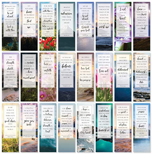 Be Not Afraid Bible Verse Bookmarks - Pack of 48