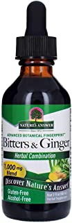 Nature's Answer Alcohol-Free Bitters with Ginger, 2-Fluid Ounces | Digestive Support | Helps with Nausea & Upset Stomach |...