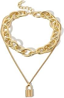 Fascigirl Detachable Vintage Creative Alloy Charm Necklace Decor Sweater Necklace Chain Necklace