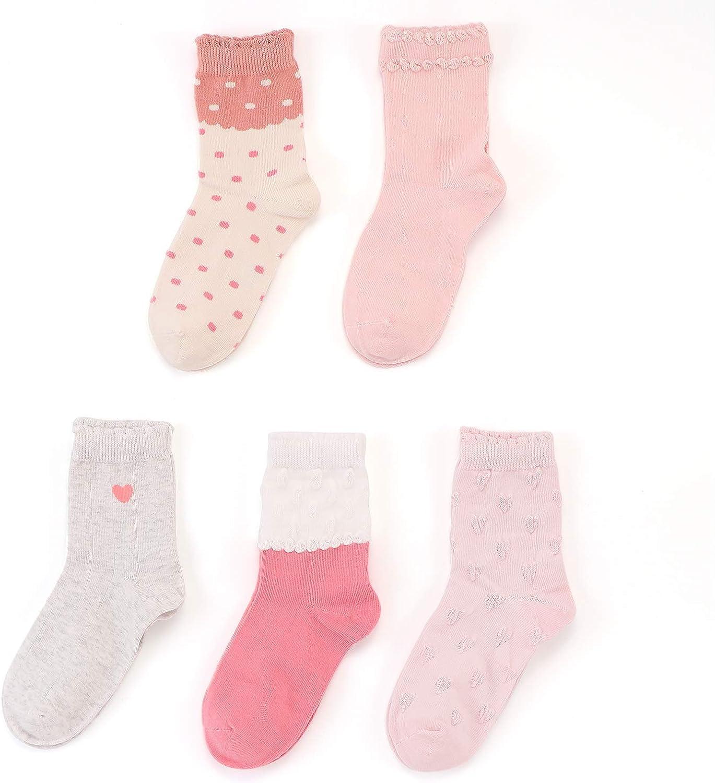 SUNBVE Baby Toddler Little Big Girls Boys Cotton Socks