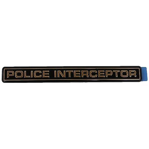 PAIR 4.6 INTERCEPTOR EMBLEMS NEW 2 FORD MUSTANG CROWN VICTORIA POLICE SSP