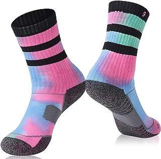 Cycling Crew Socks, Forcool Men's Women's Cushion Walking Running Arch Support Jogging Hiking Socks, 1/3 Pairs