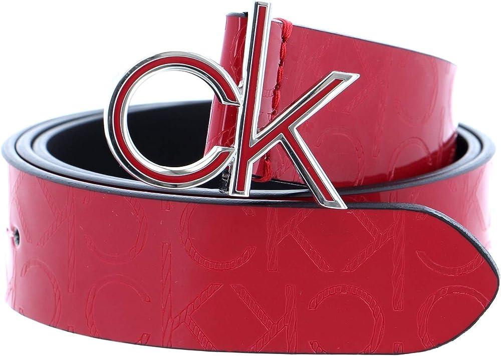 Calvin klein ck low em fix belt 3 w95 chili pepper,cintura per donna,in ecopelle K60K606820