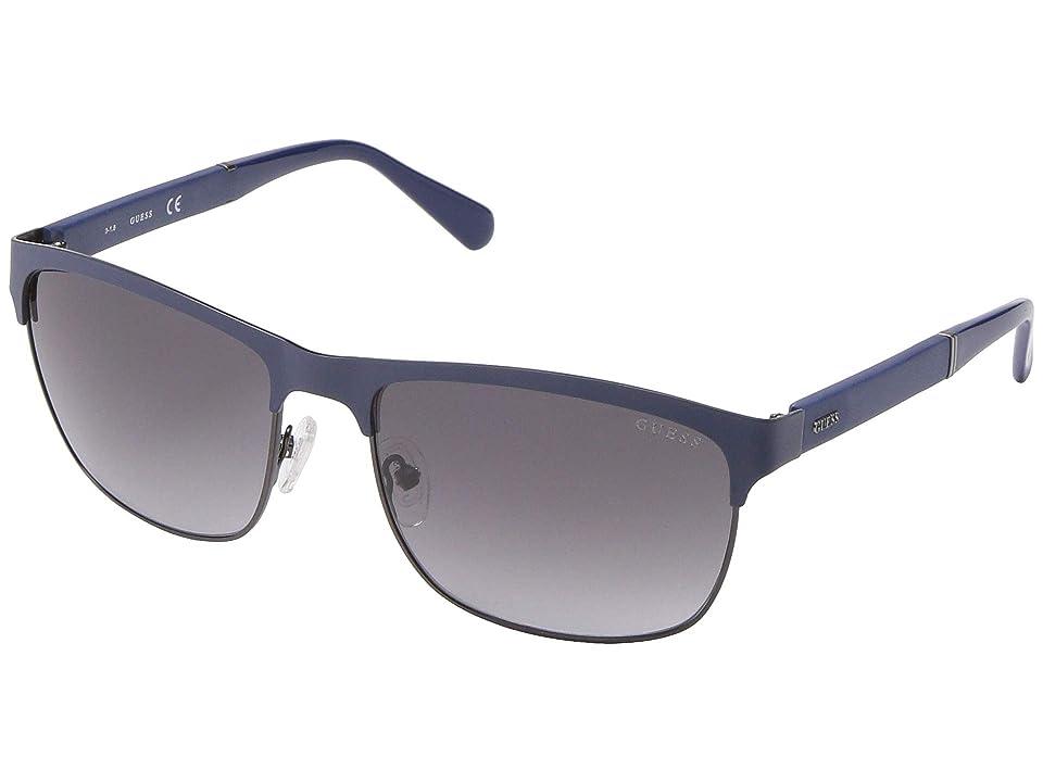 GUESS GU6892 (Matte Blue/Blue Mirror) Fashion Sunglasses