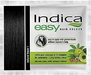 3 Pc Indica Easy10 Minutes Herbal Hair Color Shampoo Base Natural Black Herbs