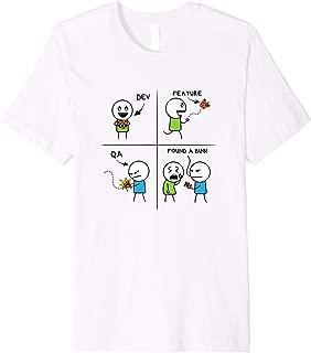 QA Tester VS Developer Feature Vs Bug Shirt Premium T-Shirt