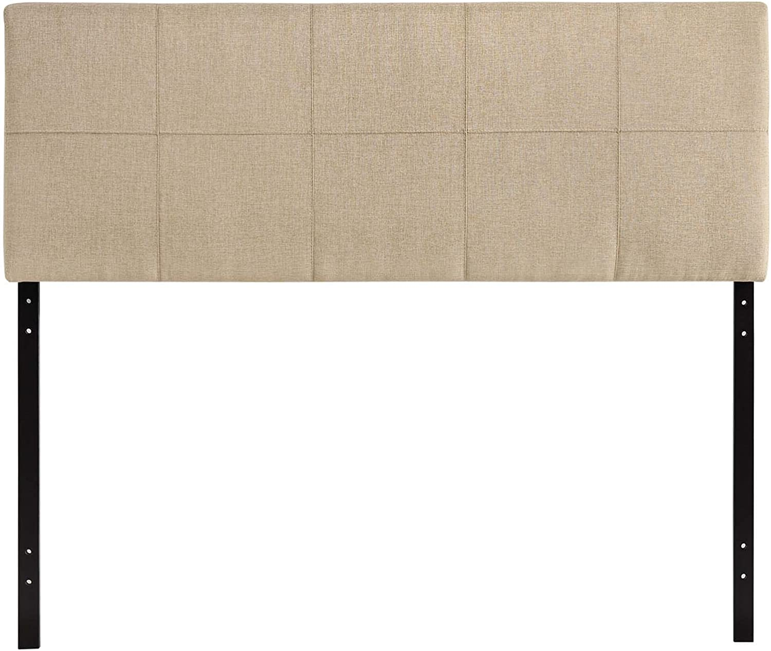 Modway Oliver Linen Fabric Upholstered Queen Beige Headboard in Super beauty lowest price product restock quality top