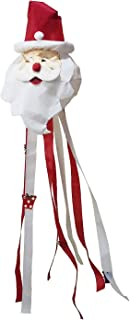 OUTOUR Santa Claus Father Christmas Winter Snow New Year Fabric Windsock Wind Sock Hanging Decorations 52