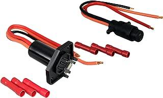 Pactrade Marine Boat Trolling Boat Plug & Socket Set 3-Wire 8 Gauge 12-24V